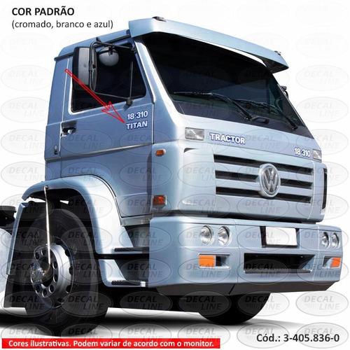 emblema auto adesivo titan para caminhão vw - resinado
