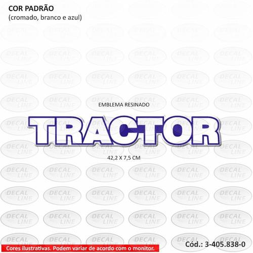 emblema auto adesivo tractor para caminhão vw - resinado