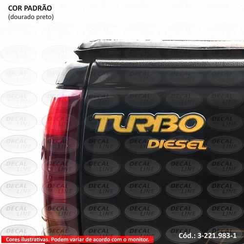 emblema auto adesivo turbo siverado d20 2000 - resinado