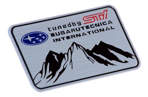 emblema badge adesivo em aluminio - subaru sti