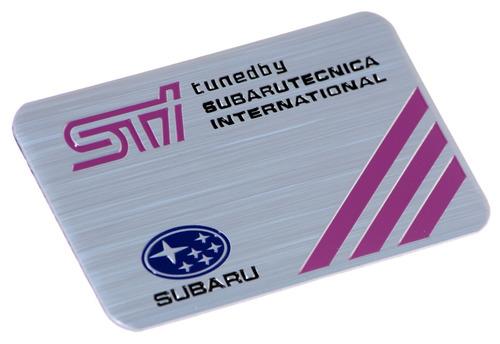 emblema badge em metal adesivo subaru sti