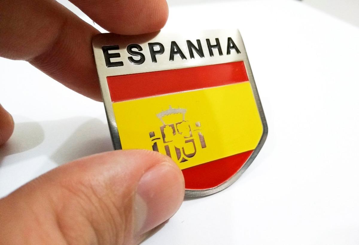 ce840c556b728 emblema badge em metal bandeira espanha aço inox premium. Carregando zoom.