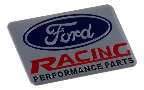 emblema badge em metal - flags - ford racing