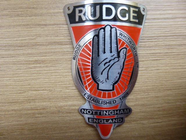 Emblema Bicicletas Antigas Rudge Nottingham England Ingles R 69