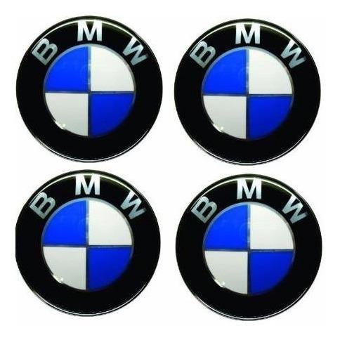 emblema bmw botom calota roda resinado 48mm