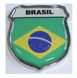 emblema brasil escudo resinado e cromado