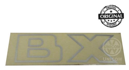 emblema  bx  traseiro adesivo cinza gol original vw