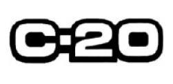 emblema c-20 cinza linha antiga chevrolet
