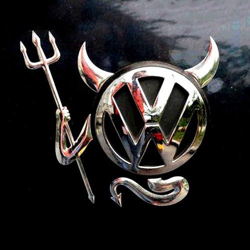 emblema calcomanía sticker autoadherible diablo diablito 3d