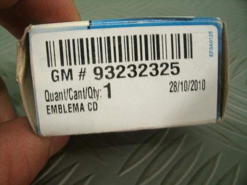 emblema cd novo original gm 93232325 astra zafira omega