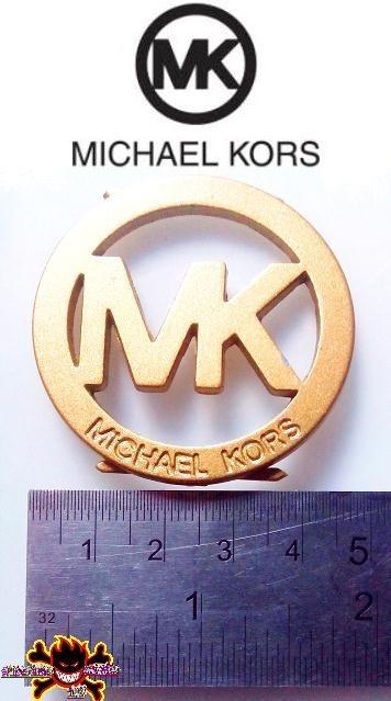 Kors Bolso Dorado 5cm Michael Cartera Mk Chapa Emblema Spike OXuPikZT