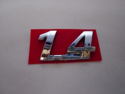 emblema cromado 1.4 p/ fiat idea .../2010 - bre