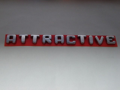 emblema cromado attractive p/ fiat idea  - 2011/... - bre