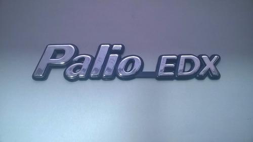 emblema cromado c/ fundo azul palio edx p/ fiat 96/99 - bre