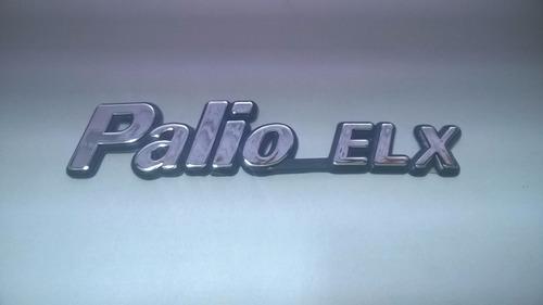 emblema cromado c/ fundo azul palio elx p/ fiat 98/01 - bre