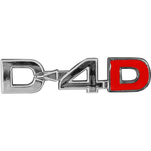 emblema cromado - d-4d