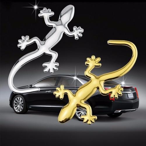 emblema cromado iguana lagartija carro o moto con pega 3m