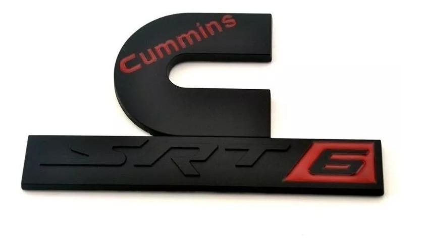 Emblema Cummins Srt6 Jeep Dodge Ram Charger Challenger 2500 Efi Live Srt6  Black Edition