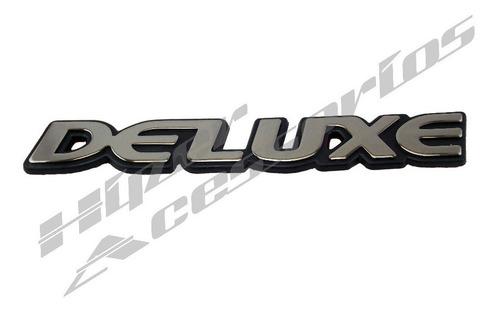 emblema deluxe s10 e blazer linha chevrolet 1997 cromado