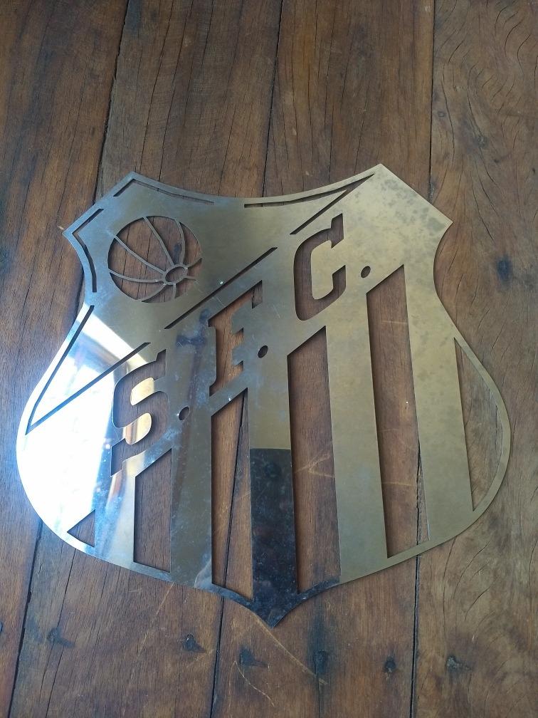 Emblema Do Santos Fc Em Aço Inox Polido Camisa Bola Chuteira - R  99 ... 683f9c276e52d