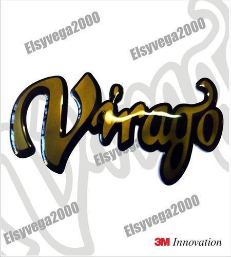 emblema en relieve 3d  tanque moto yamaha virago