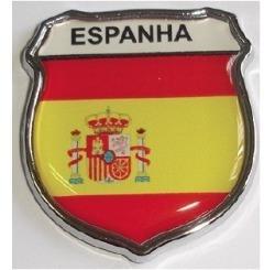 emblema espanha escudo resinado e cromado