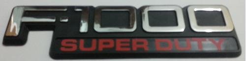 emblema f-1000 super duty cromado, preto e vermelho- ford