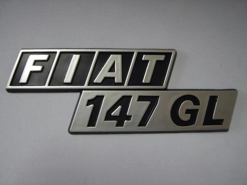 emblema fiat 147 g l p/ porta malas - bre