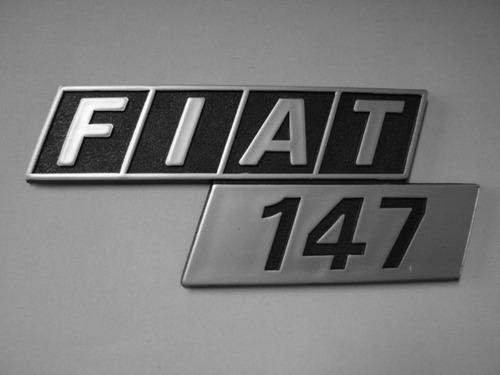 emblema fiat 147 p/ porta malas - bre