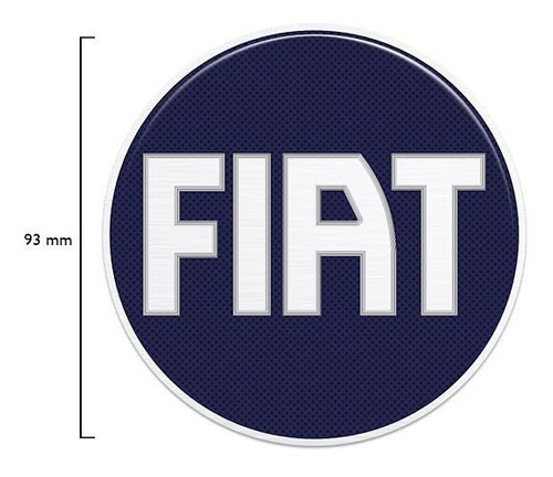 emblema fiat azul strada até 2005 adesivo traseiro resinado