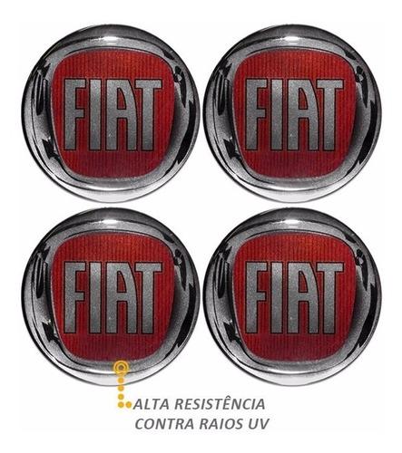 emblema fiat vermelho botom calota roda resinado 58 mm e 68m
