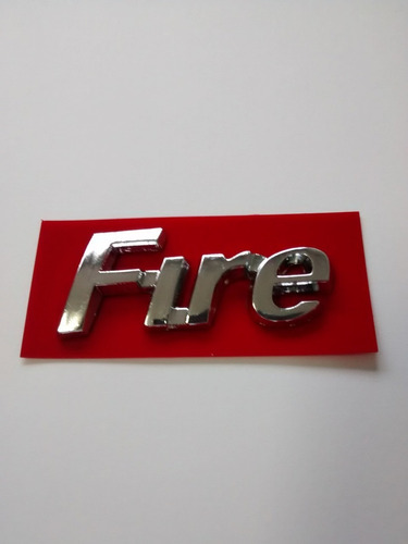 emblema fire cromado uno palio siena strada fiorino fiat