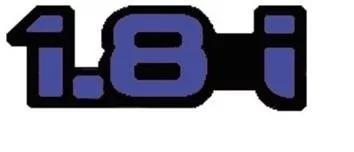 emblema ford 1.8i escort azul 94