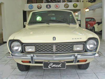 emblema ford p/ landau letras do capô novo corcel maverick