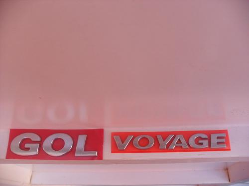 emblema gol ou voyage linha volkswagen g5 g5