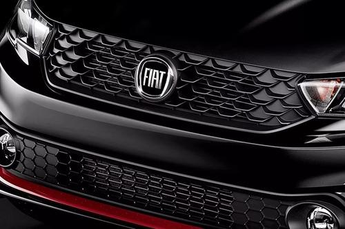 emblema grade dianteira argo fiat black piano resinado