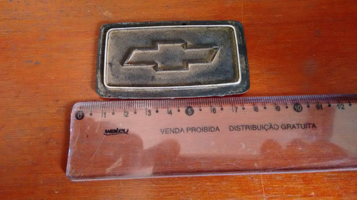emblema gravata do miolo do volante do chevette - original
