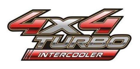 emblema hilux 4x4 turbo intercooler 09 toyota hilux adesivo