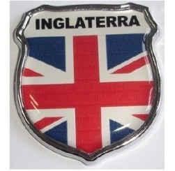 emblema inglaterra escudo resinado e cromado