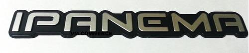 emblema ipanema cinza linha 91- chevrolet/gm