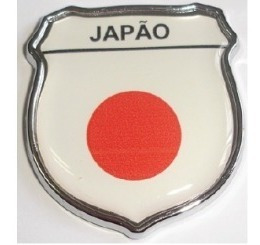 emblema japão escudo resinado e cromado