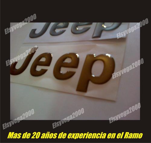 emblema jeep flexible relieve para cherokee, grand cherokee