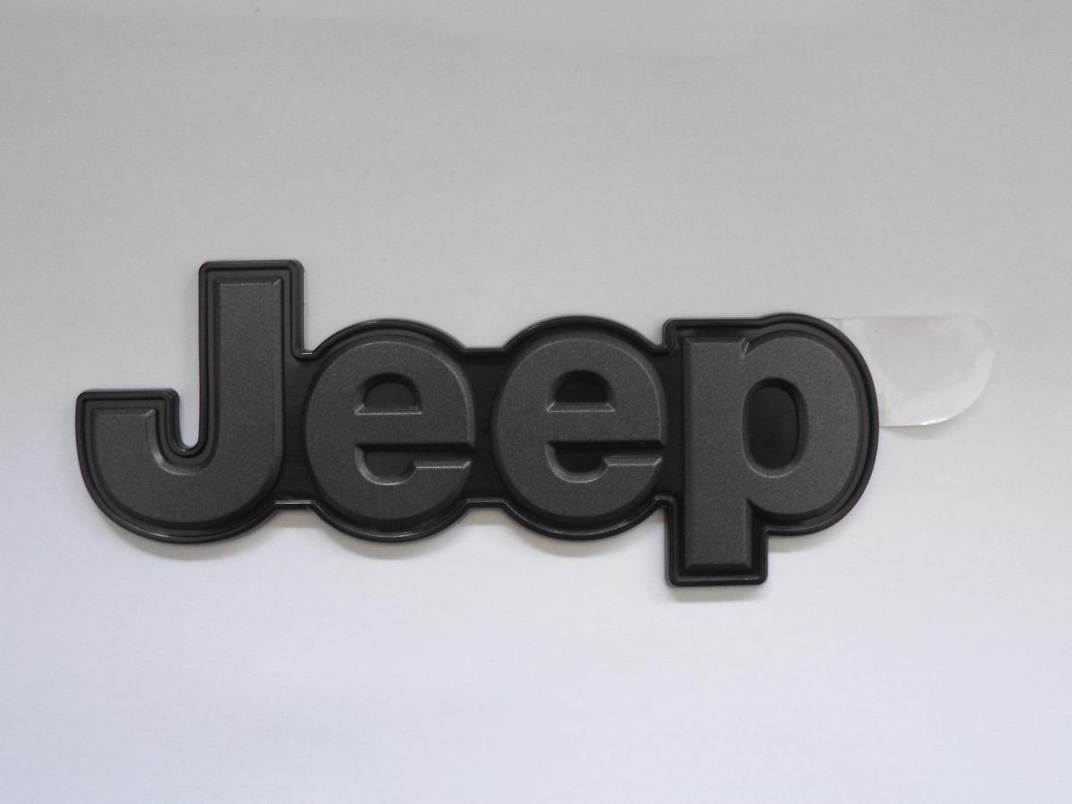 Emblema Jeep Mala Renegade Grafite Base Preta Original R 80 25 Em Mercado Livre