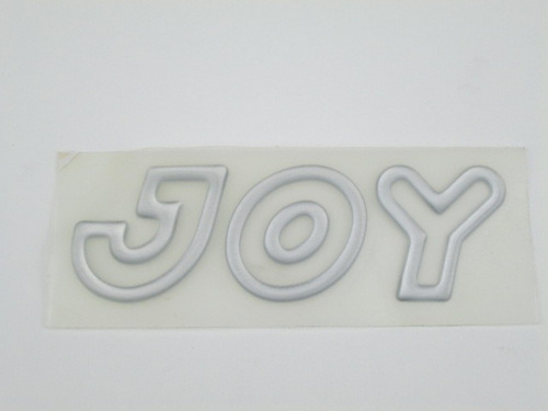 emblema joy cinza