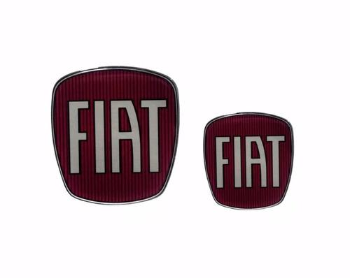 emblema kit adesivo resinado fiat bravo dianteiro traseiro