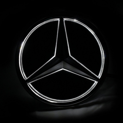 emblema led mercedes benz