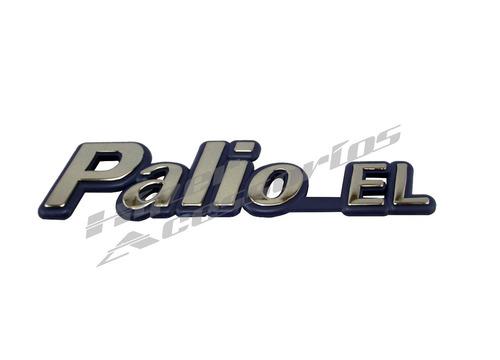 emblema letreiro palio el 1996 1997 1998 1999 2000 cromado com fundo azul