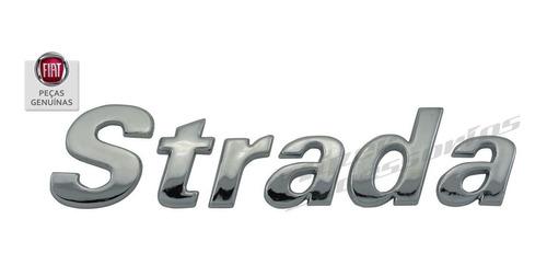 emblema letreiro strada 2001 em diante cromado original fiat
