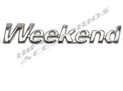 emblema letreiro weekend palio marea cromado modelo original