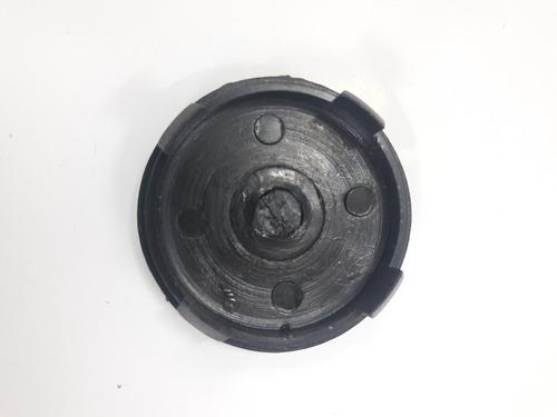 emblema llanta vw gol ab9  polo negro  cromado